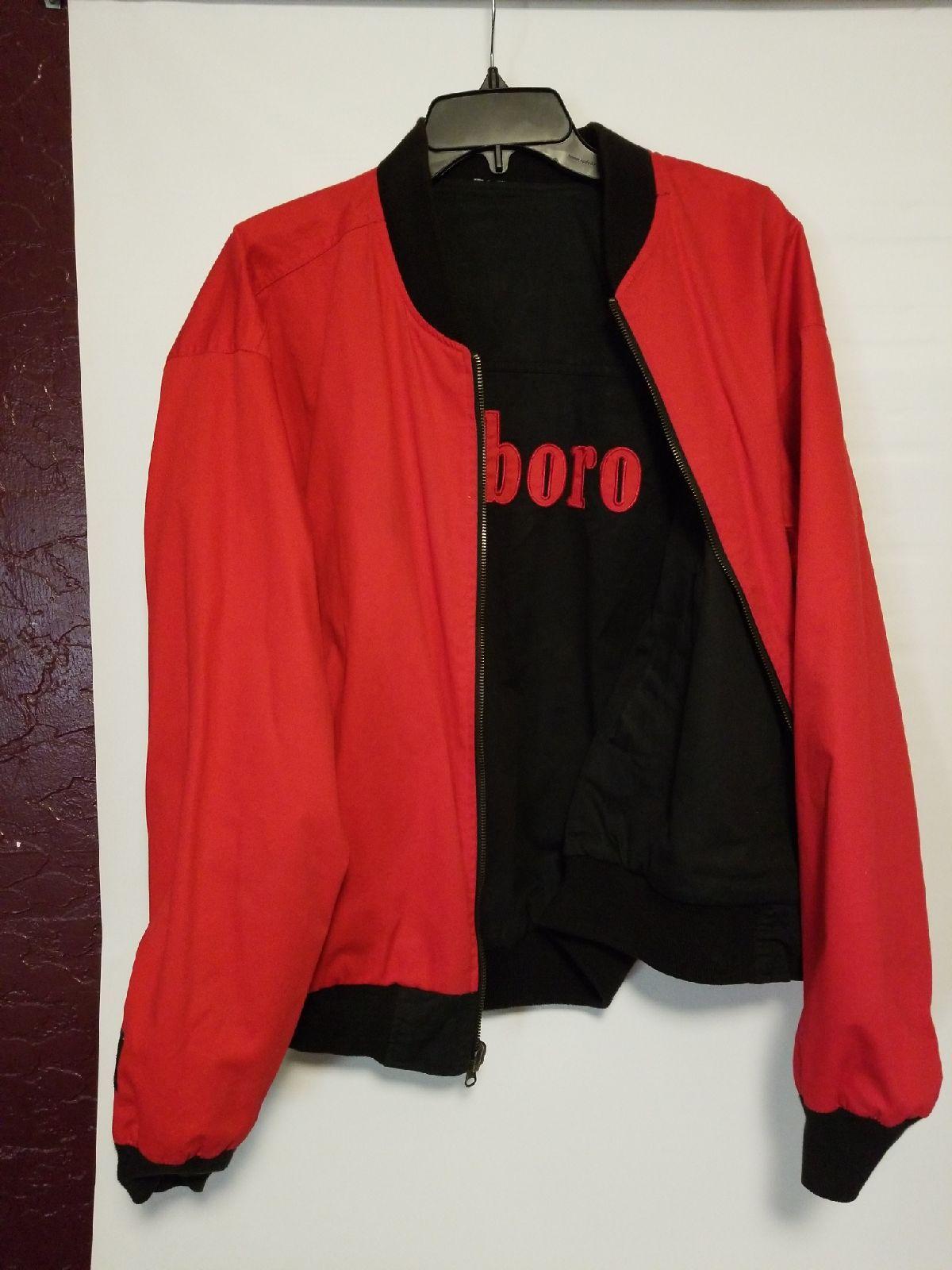 Marlboro Reversible Bomber Jacket Sz L Marlboro Vintage Classic Rugged Bomber Jackets Red Bomber Jacket Vintage Jacket