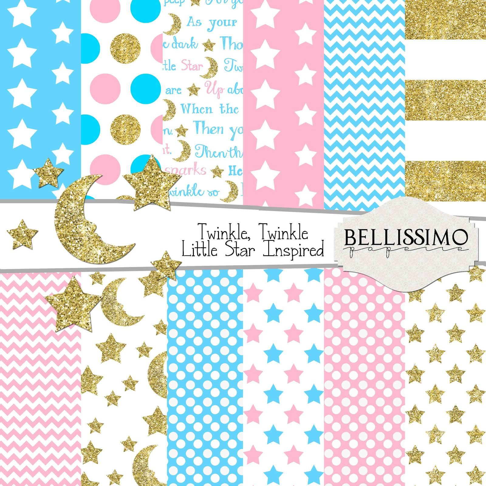 Twinkle Twinkle Little Star Paper Pack You Will Receive