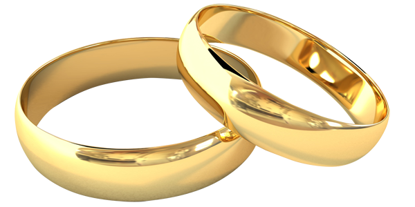 Wedding rings PNG image with transparent background