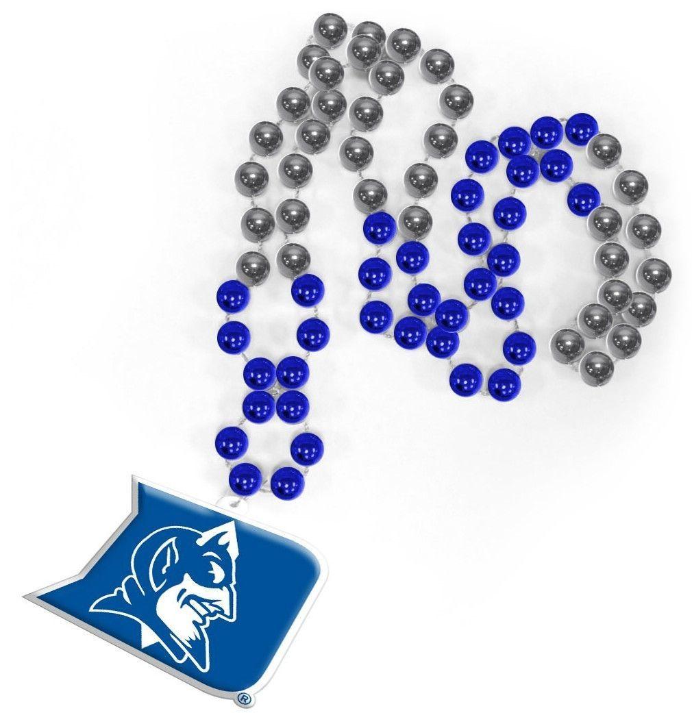 Duke Blue Devils Mardi Gras Beads with Medallion