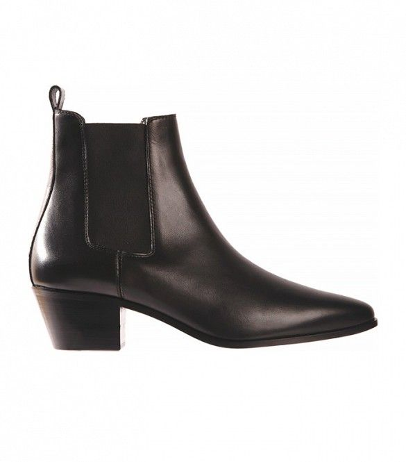 Saint Laurent Rock Chelsea Boot, Black Smooth Calfskin