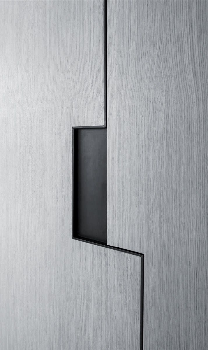 Wohndesign almirah pitsou kedem  art collector apartment   cabinet detail  bedroom