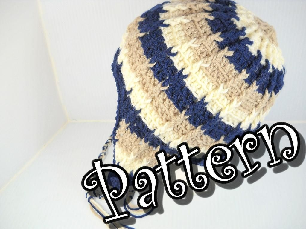 4) Name: \'Crocheting : Ribbed Ear Flap Hat Pattern | crochet ...