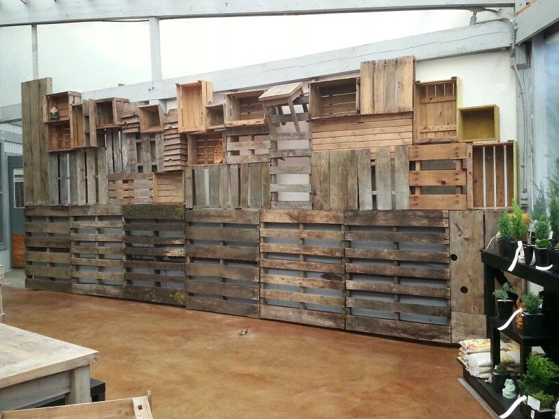 Pallet Wall At My Garden Nursery In Bellingham Wa Www