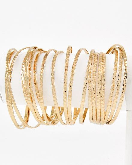 Domino Dollhouse - Plus Size Clothing: Bangle Armpiece in Gold