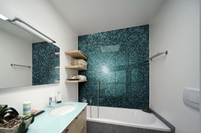 Badezimmer Ohne Fliesen Alternative Glaspaneele Mattglas