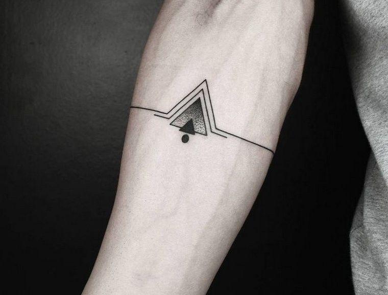 tatouage géométrique avant bras tatouage homme idée