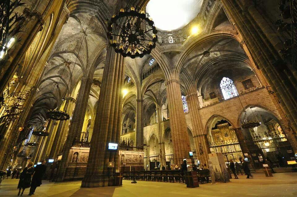 Interior de la Catedral de Barcelona.