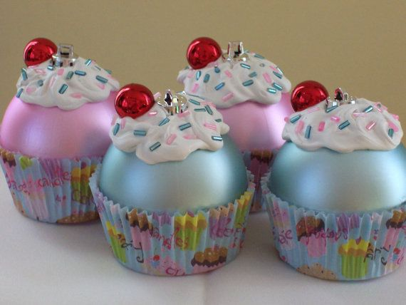 Cupcake Ornaments / Christmas Ornaments / by LittlePunkinMunkie ...
