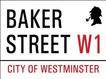 Amazon.com: Baker Street Metal Sign: British Decor Wall Accent: Home & Kitchen