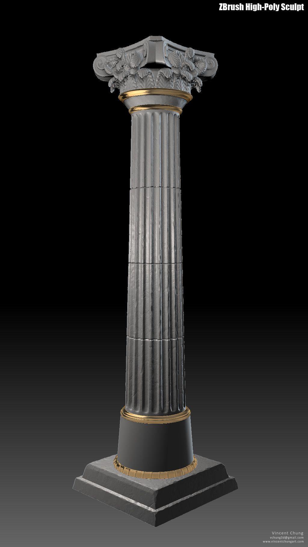 Artstation Ue4 Game Assets I Greek Column Vincent Chung Greek Columns House Pillars Columns Decor