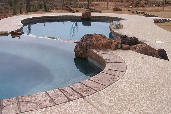 Acrylic Lace Pool Deck Colors Imagine Architectural