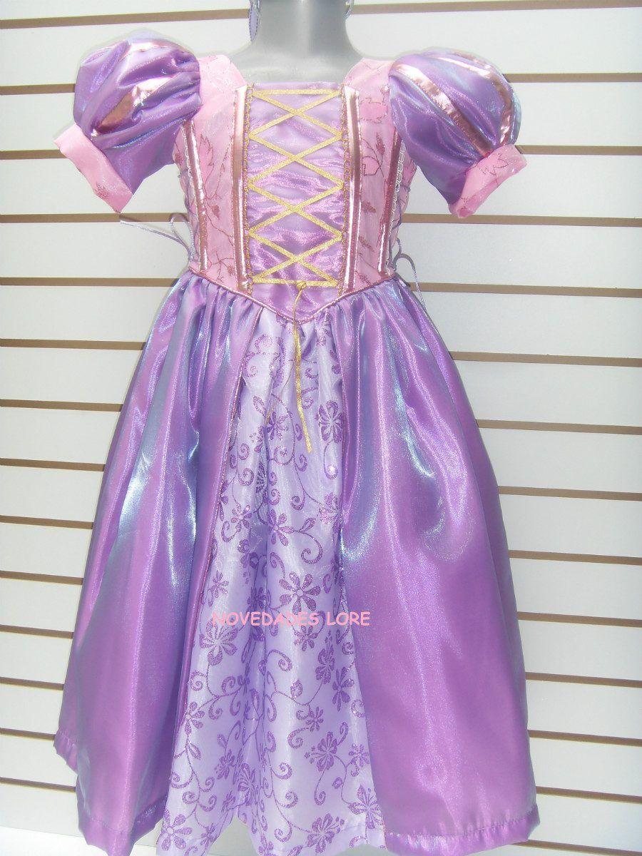 Hermoso Vestido Disfraz Princesa Rapunzel Enredados De Lujo ...