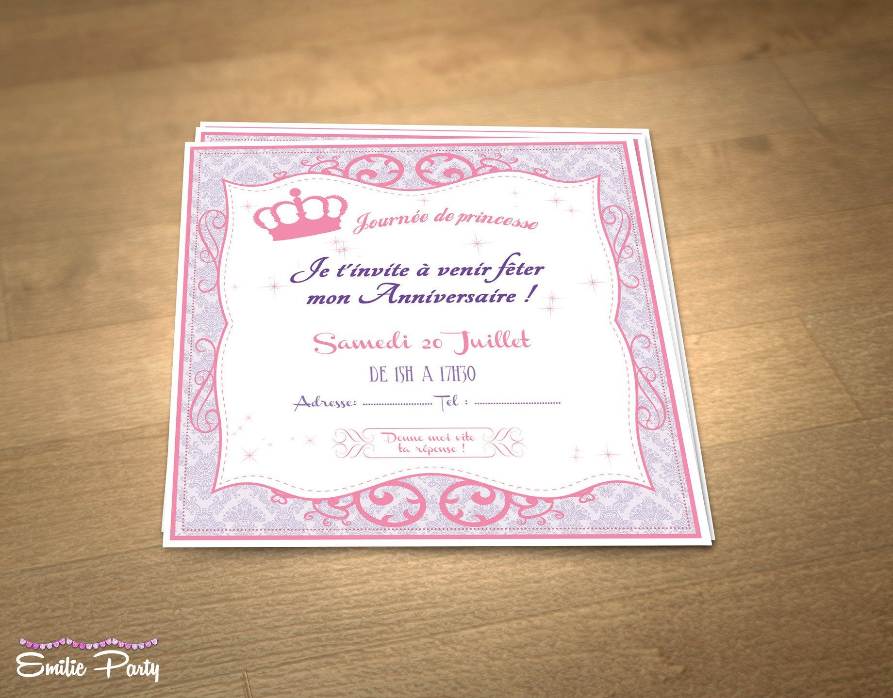 Top carte invitation anniversaire gratuite : Carte d invitation pour  TY39