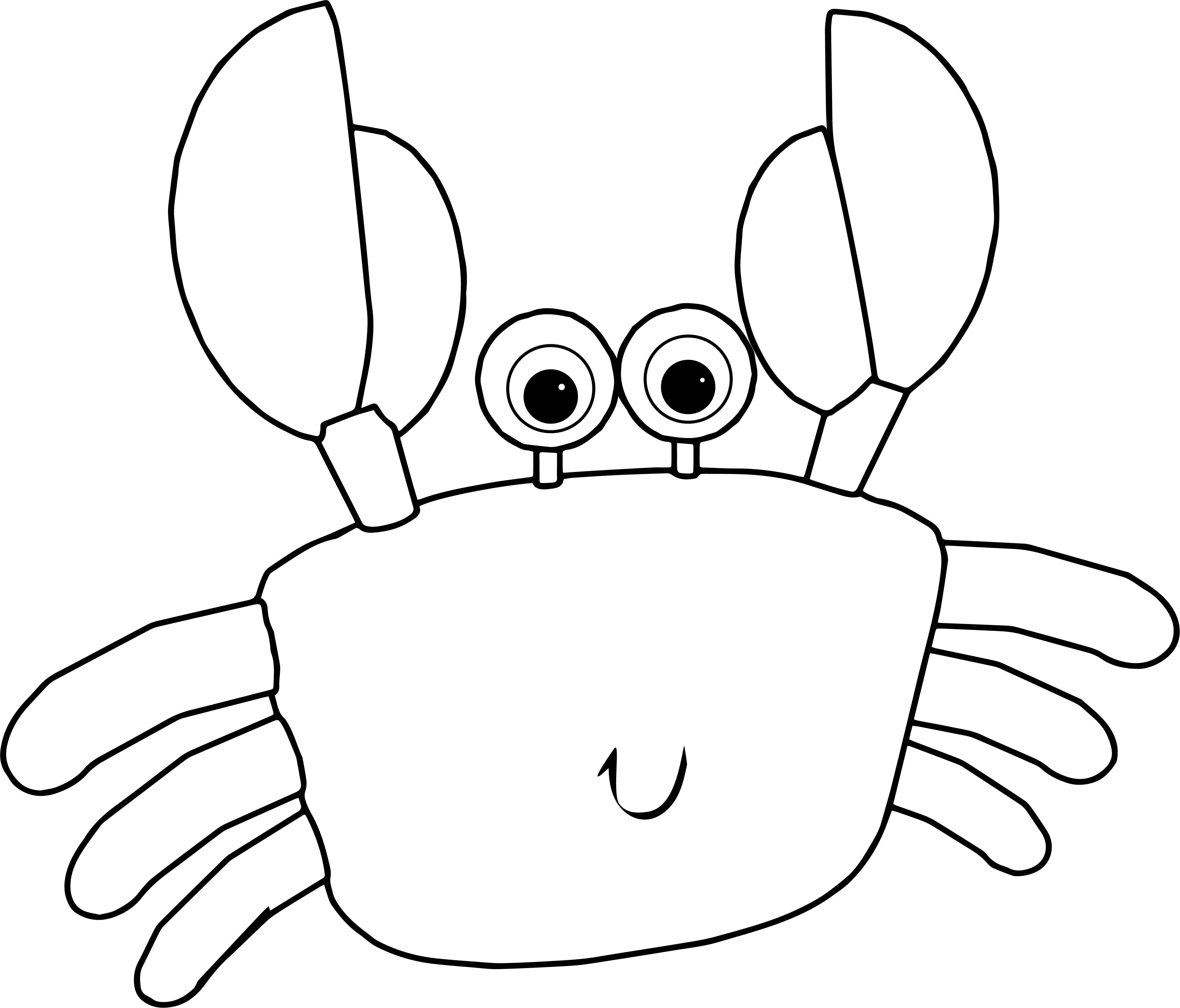 Awesome Crab Cartoon Coloring Page Cartoon Coloring Pages Crab
