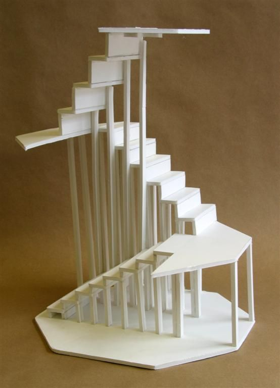 Attirant Clara Lieu, RISD Pre College Design Foundations, Staircase Sculpture  Assignment, Foam Board U0026 Hot Glue, 2006