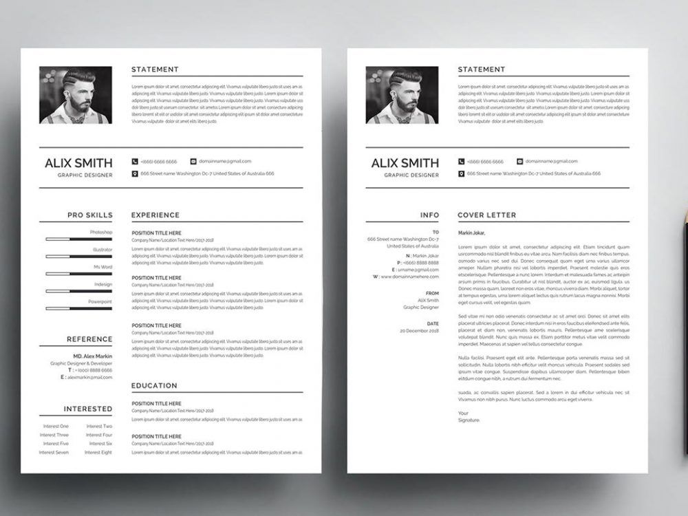 nuik noke  simple resume template free download in 2020