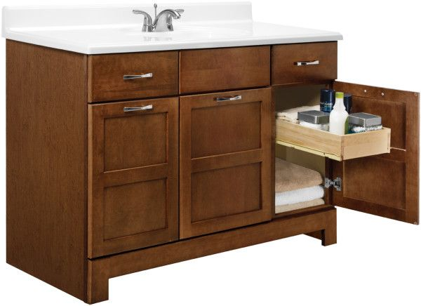Wondrous Bathroom Vanities With Drawers On Left Side From Solid Oak Furniture Inclu 48 Inch Bathroom Vanity Bathroom Vanities Without Tops Bathroom Vanity Base