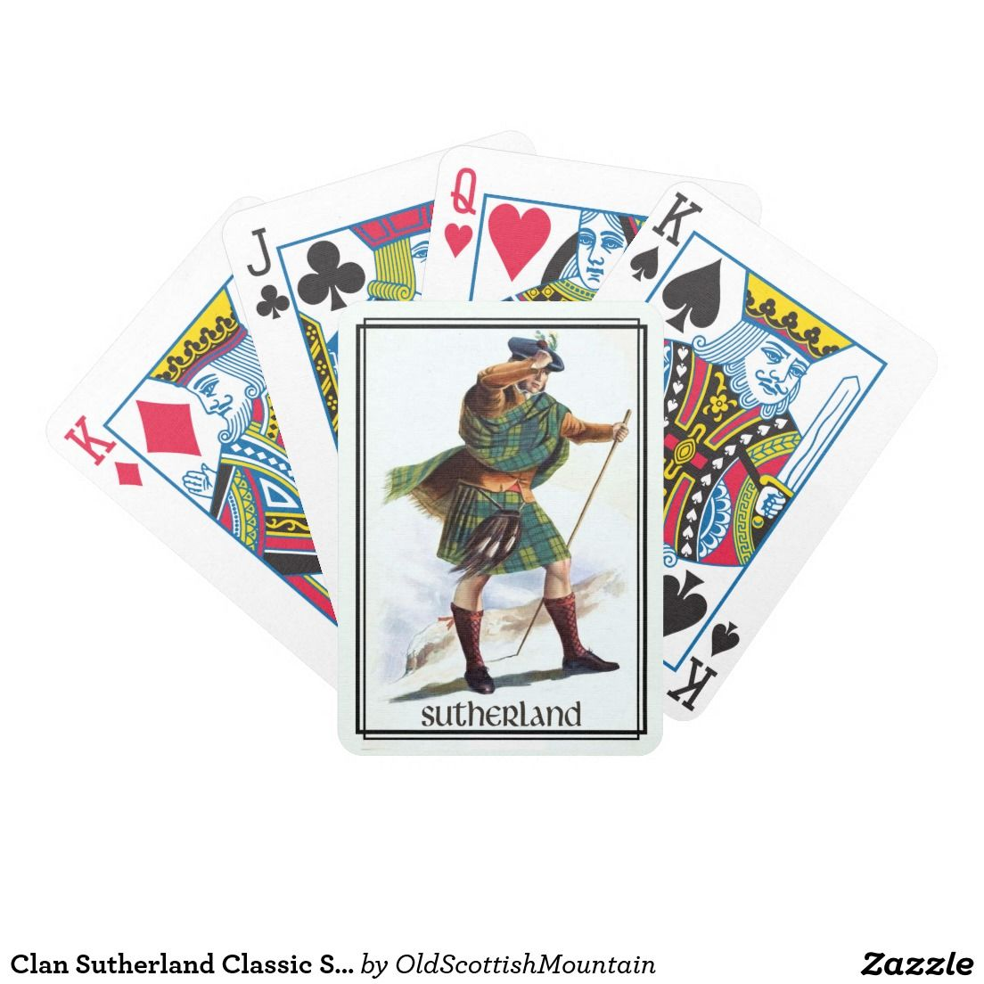 Clan Sutherland Classic Scotland Bicycle Deck Bicycle Poker Cards