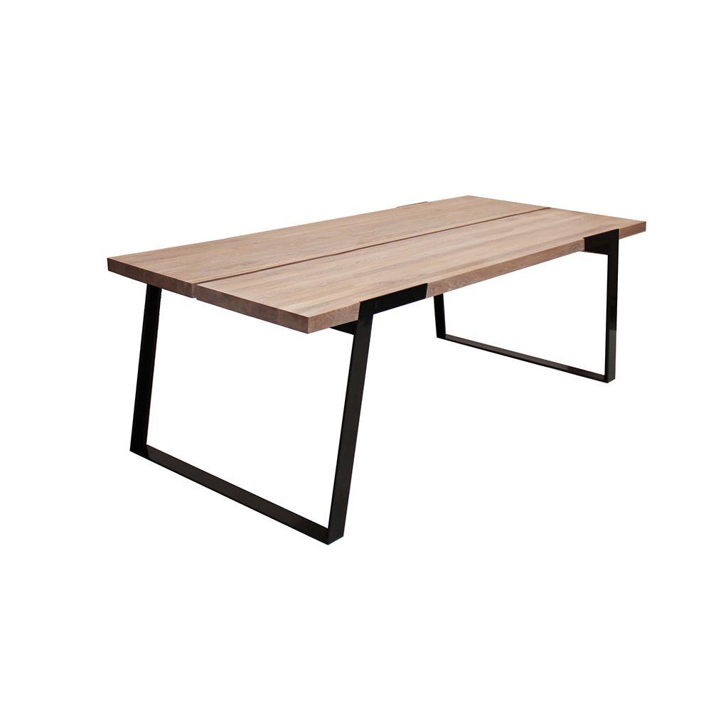 Hvidolieret Spisebord i massiv træ 240cm. Hvidolieret - Gratis Fragt ...