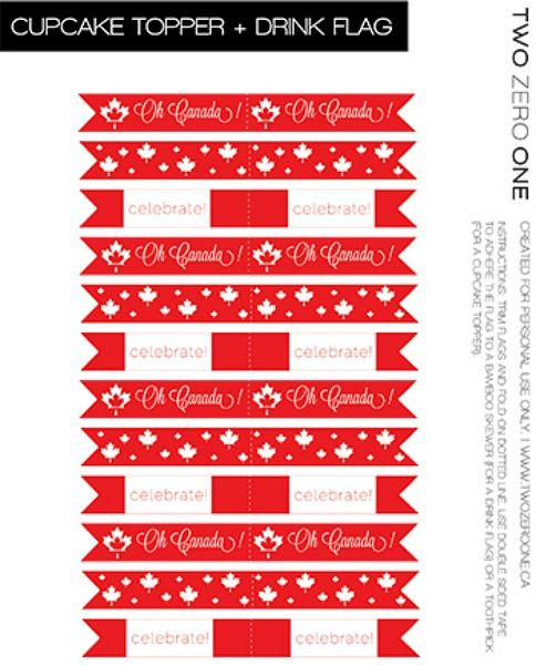 free canada day printables