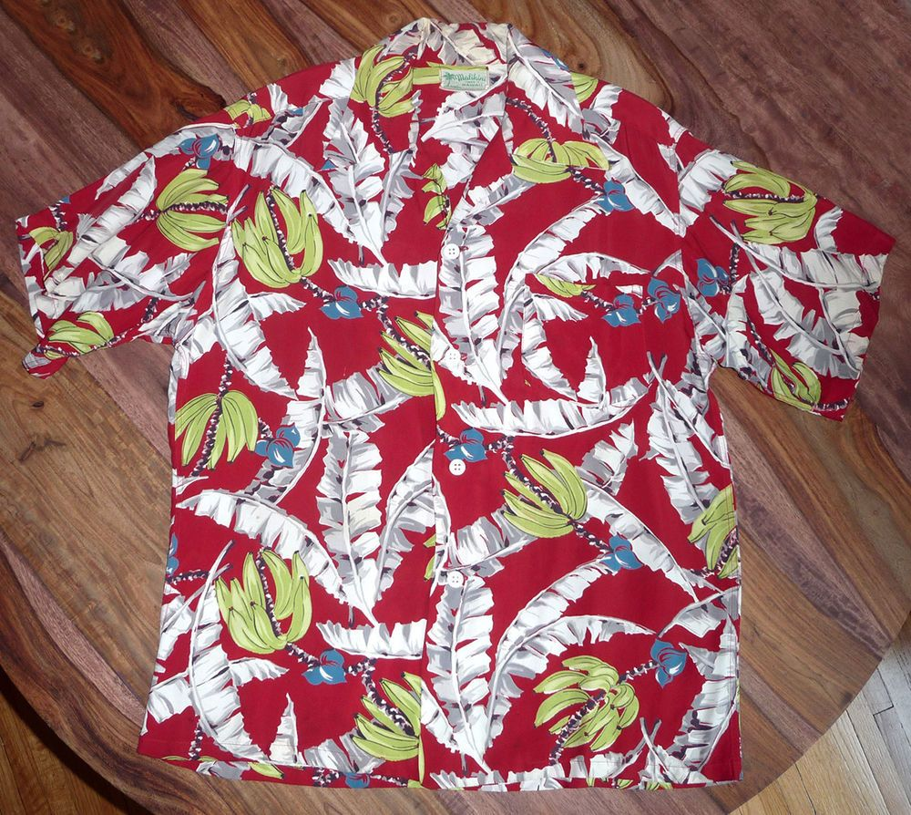 1343f549 Vintage Malihini Hawaiian Shirt - Size Large, Tiki, Rockabilly, Men's L