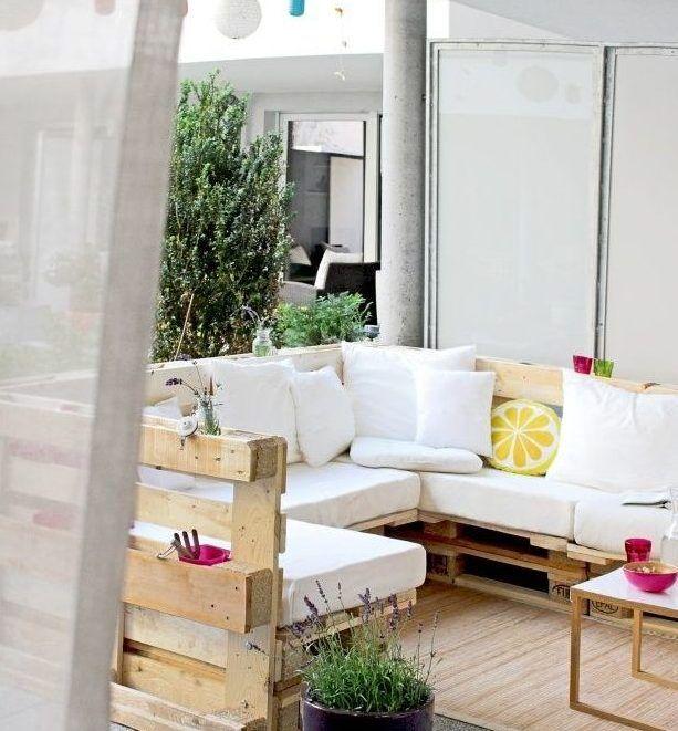 Muebles de palets para terrazas decoraci n terrazas for Terrazas muebles decoracion