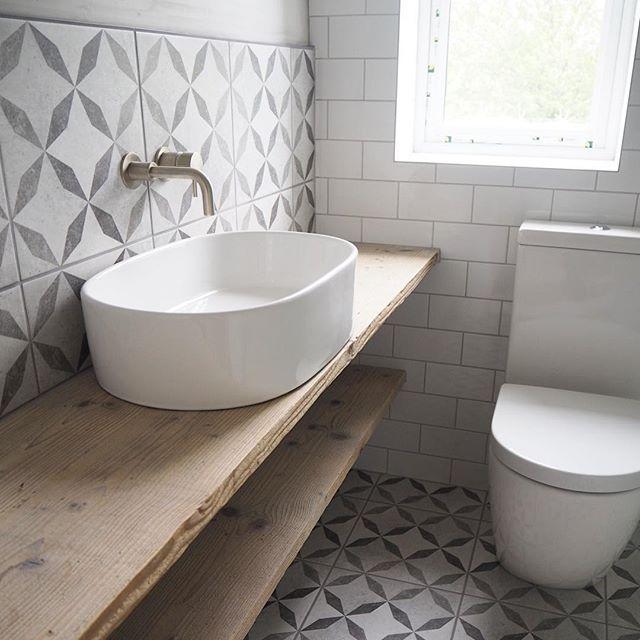 Devon Concrete Feature Floor Tiles 33x33cm Diy Kitchen Flooring Remodel Bedroom Diy Flooring