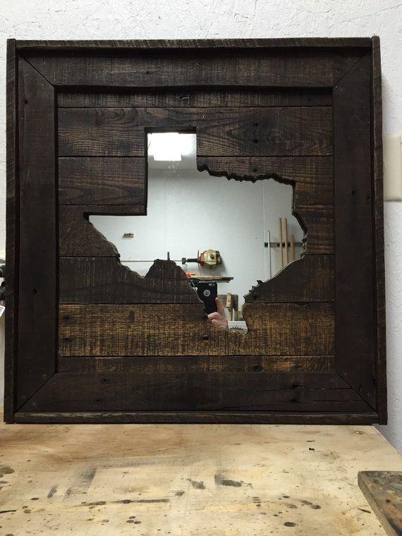 Texas Reclaimed Wood Mirror Wall Art | Pinterest | Woods, Check And  Reclaimed Wood Mirror