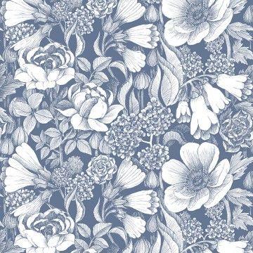 Tapete Oodi Blau Weiss Marimekko Wallpaper In 2018