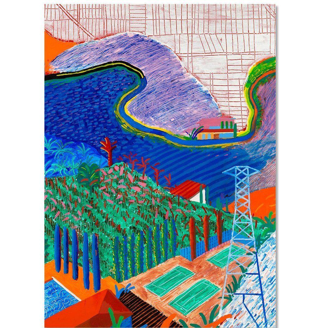 David Hockney: Mulholland Drive Holiday Cards | David ...