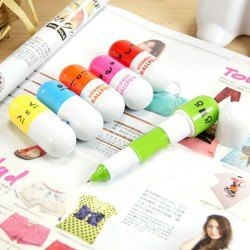 Smile Face Pill Shape Stretchy Ball Pen