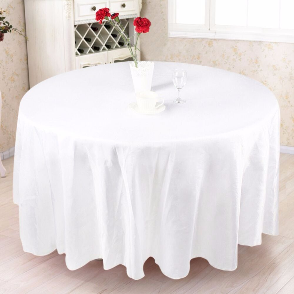 10pcs Europe Wedding Table Cloth 108 Satin Fabric Round Party Table Covers For Wedding Table D Table Cloth Decorations Christmas Table Cloth Party Table Cloth
