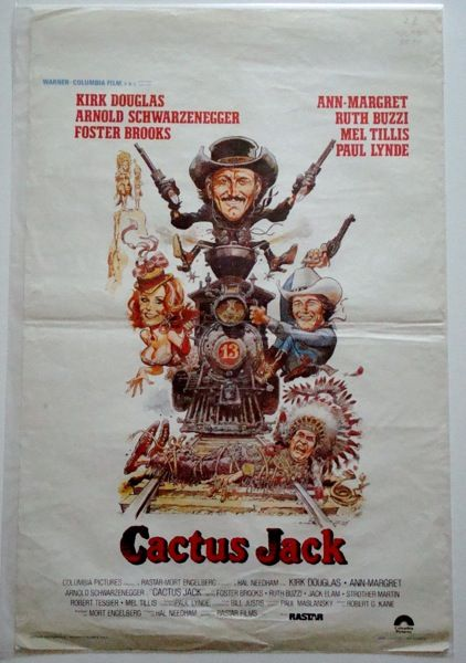 The Villain (Cactus Jack) Belgian poster. Art by Jack Davis