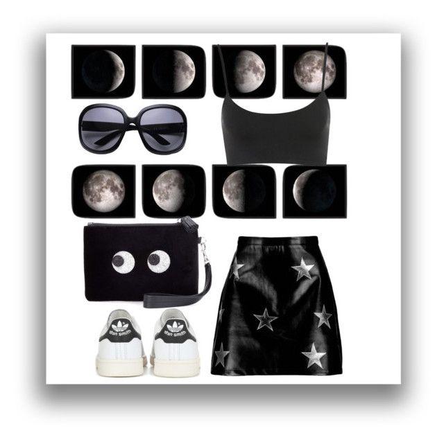 """Moon & stars"" by buddahbar on Polyvore featuring Boohoo, adidas Originals and Anya Hindmarch"