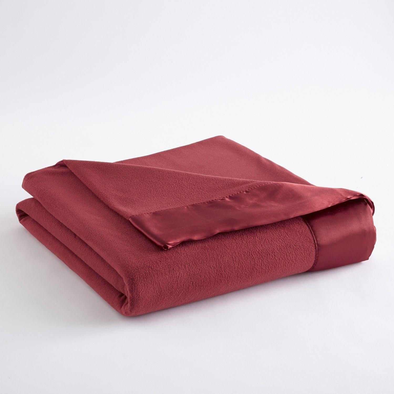 Brick Red Micro Flannel Blanket Micro Flannel Bedding Flannel Blanket Flannel Bedding Round Blanket