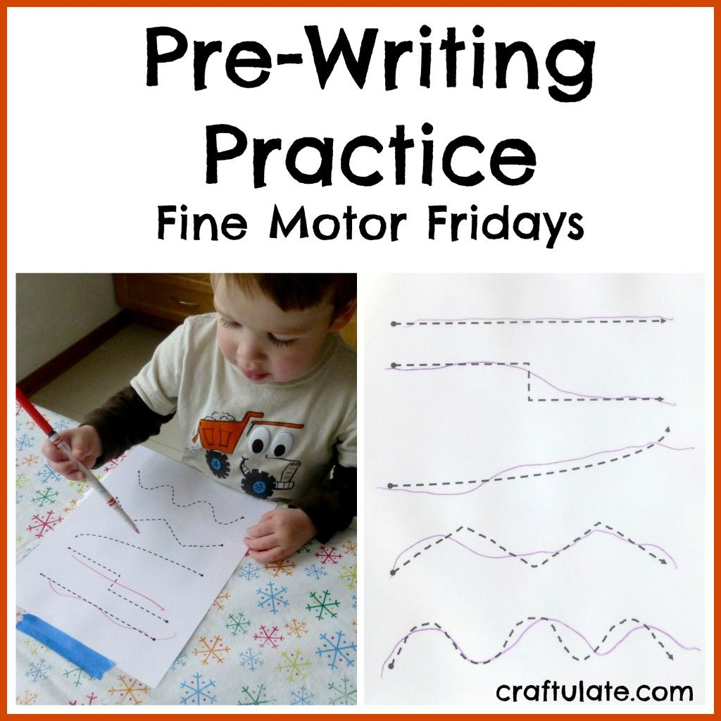 Free Printable For Kids Who Are At The Pre Writing Stage
