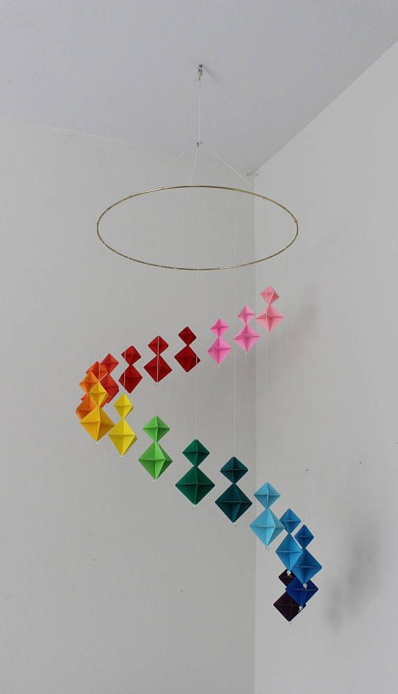 Photo of Regenbogen Origami Mobile