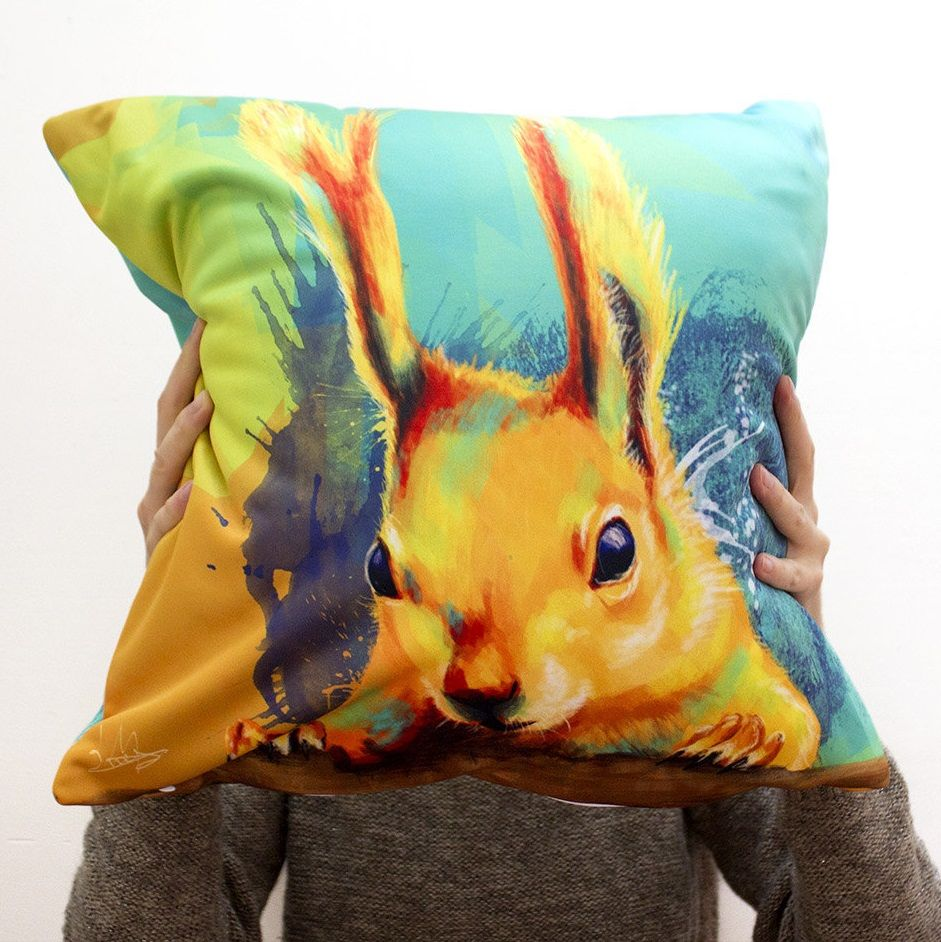 Adorable squirrel pillow cover perfect gift for all