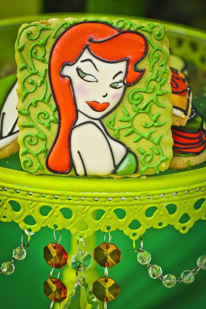 Poison Ivy Birthday Party Dessert Table Birthday Adult