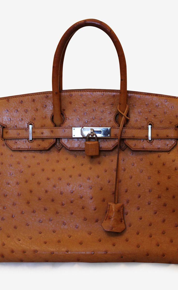 Hermès Ostrich Cognac Birkin
