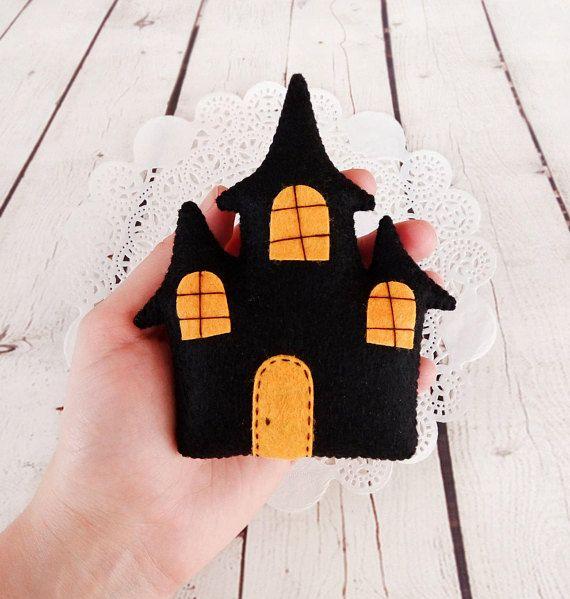 Décor dHalloween Haunted House Spooky jouet de feutre noir