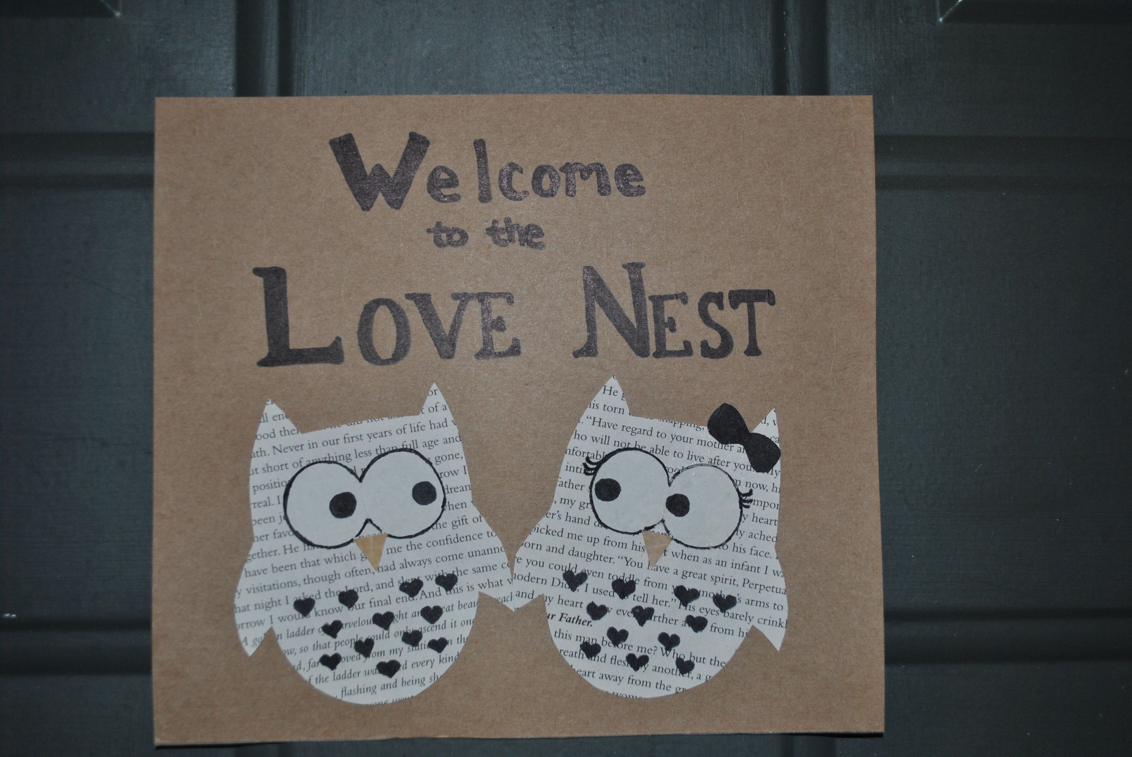 A welcome home sign I made for some newlyweds.