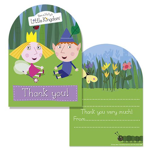 Party Ark S Ben Holly Thank You Cards Ben And Holly Kids Cards 4th Birthday Parties