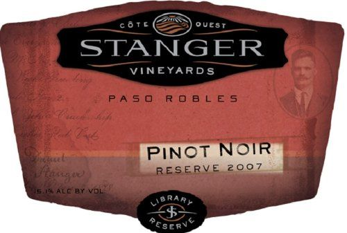 2007 STANGER Pinot Noir Reserve 750 mL *** Click on the image for additional details.