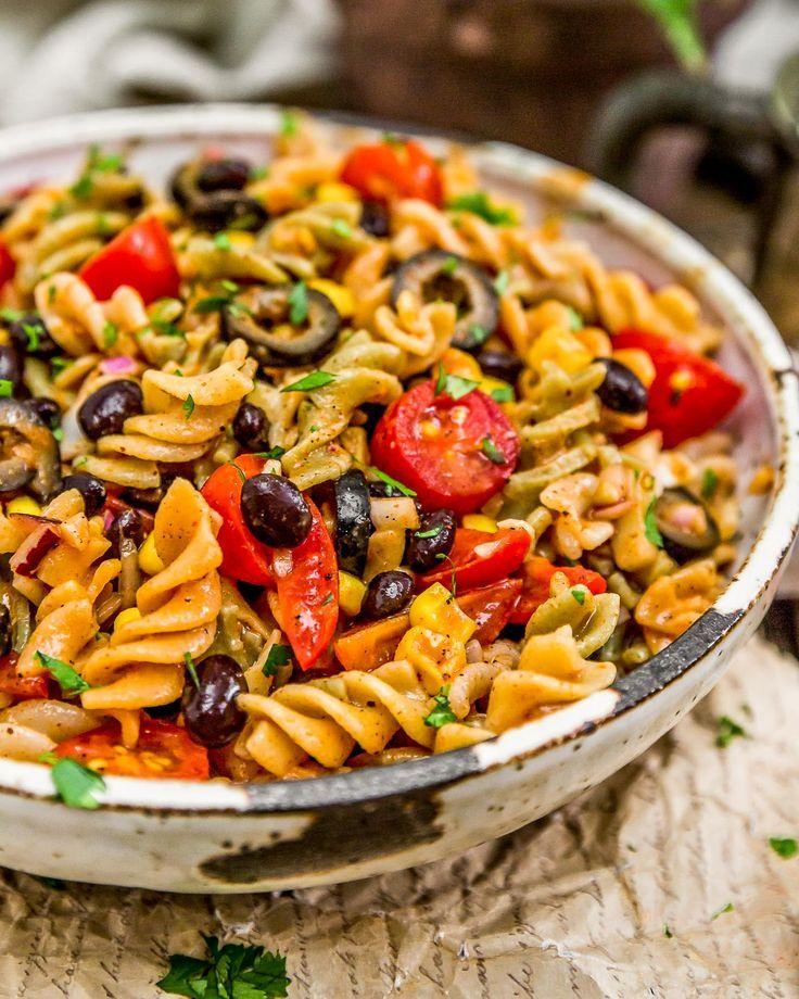 tex mex pasta salad monkey and me kitchen adventures recipe pasta salad whole food recipes pasta pinterest