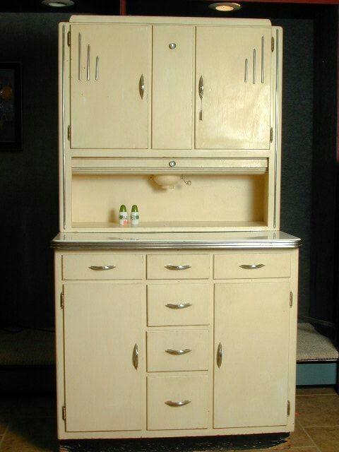 1930s American Art Deco Kitchen Cabinet | Art deco kitchen ...