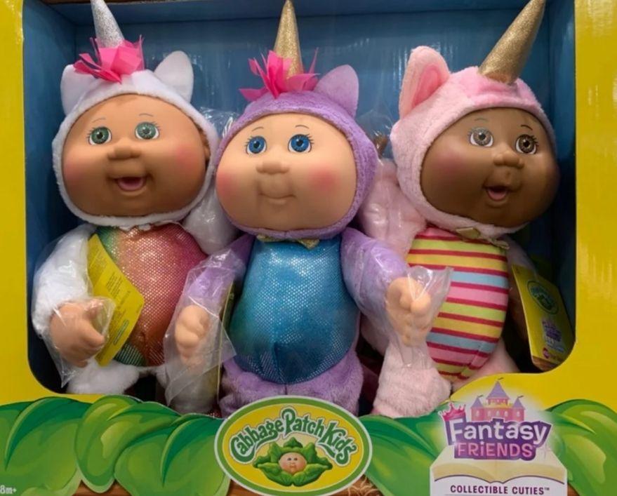 Cabbage Patch Kids Fantasy Friends Collectible Cuties Includes 127 Aria Unicorn 126 Nila Unicorn Cabbage Patch Kids Dolls Cabbage Patch Kids Cabbage Patch
