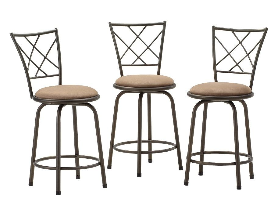 Remarkable Slumberland Anna Collection Set Of 3 Barstools For The Theyellowbook Wood Chair Design Ideas Theyellowbookinfo