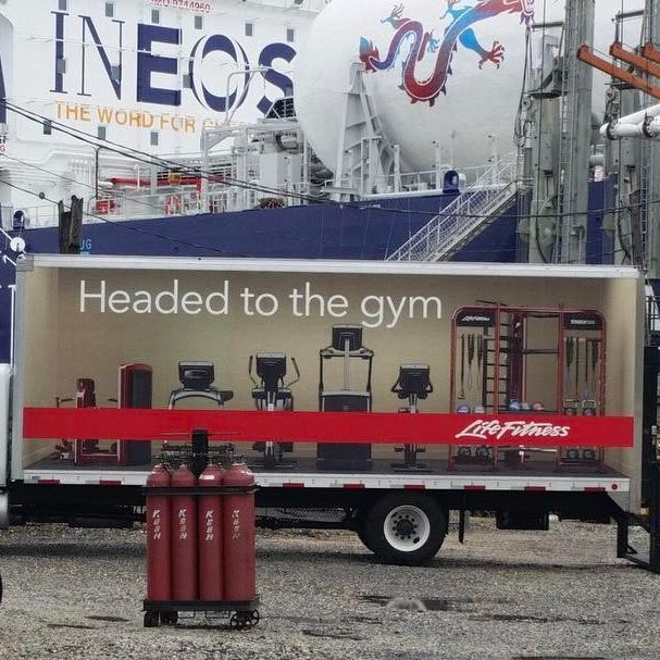 Spotted: #LifeFitness installers aboard the JS Ineos Independence tanker vessel which was docked at Sunoco Hog Island in Philadelphia.